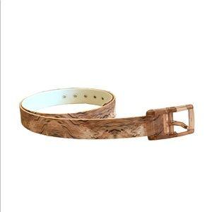 C4 Belt Tan, Brown & Cream w/Tan Buckle